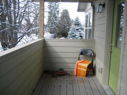 Studio shared front porch